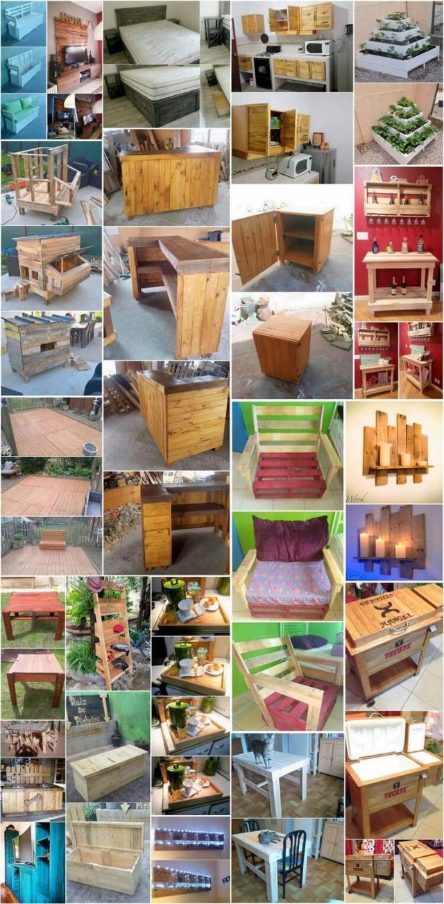 Some Innovative DIY Ideas Made with Used Wood Pallets