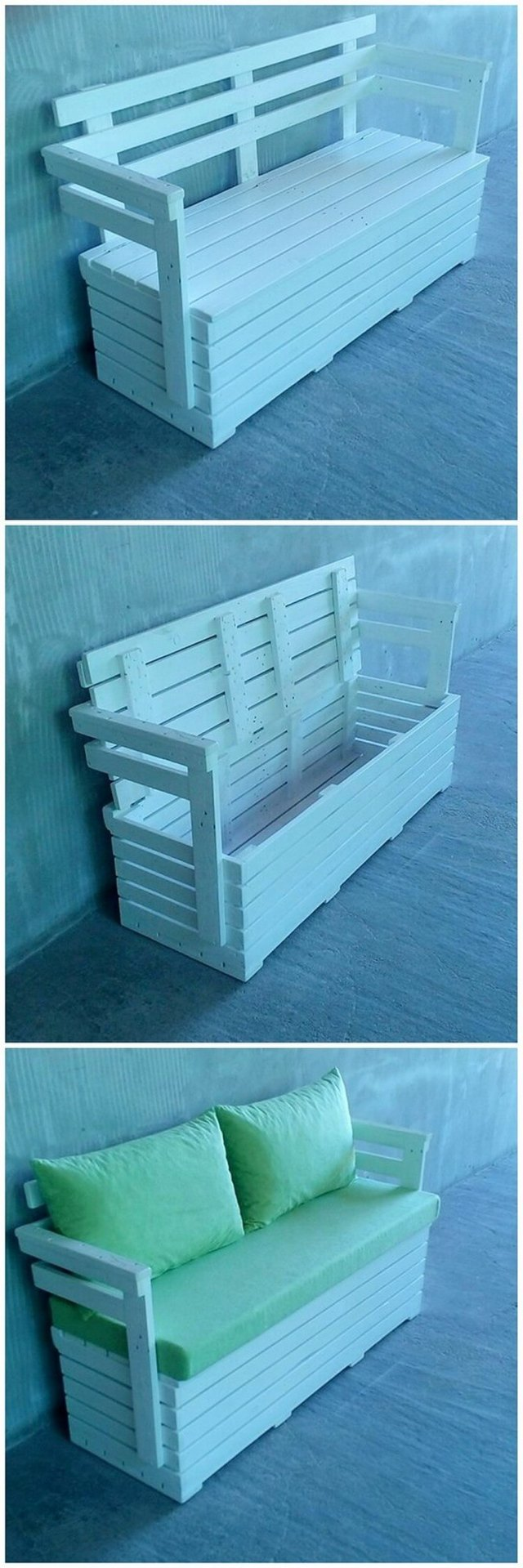 Wood Pallet Couch with Storage