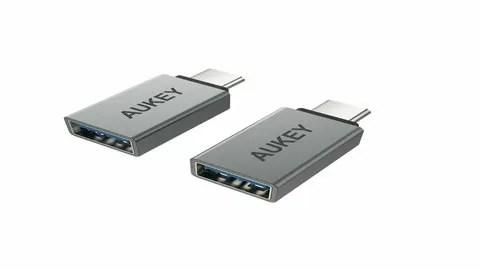 AUKEY USB C a Micro USB Adattatore in Alluminio [ Confezione da 2 ]