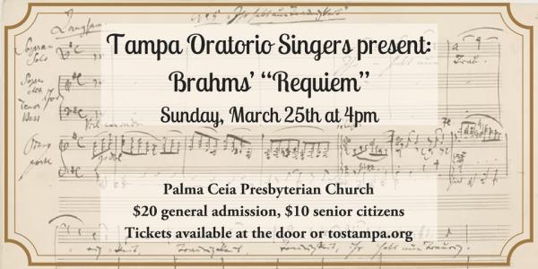 """Tampa Oratorio Singers present Brahms' """"Requiem"""""""
