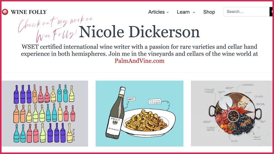 Wine Folly, wine writer, food and wine
