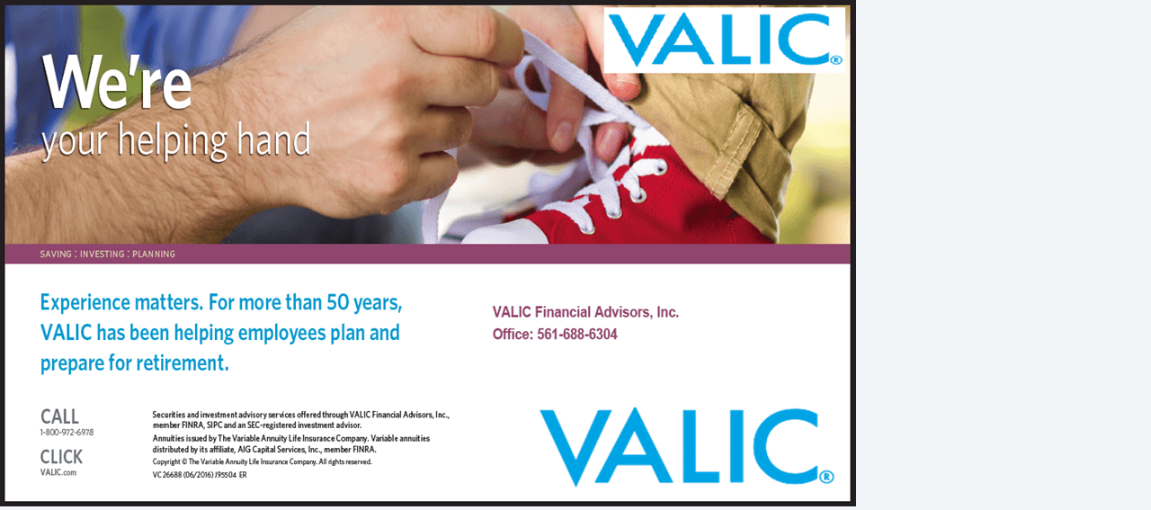 FEATURED SPONSOR: Valic