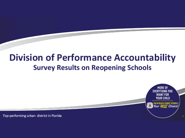 SDPBC Reopening Survey Results for 2020-2021