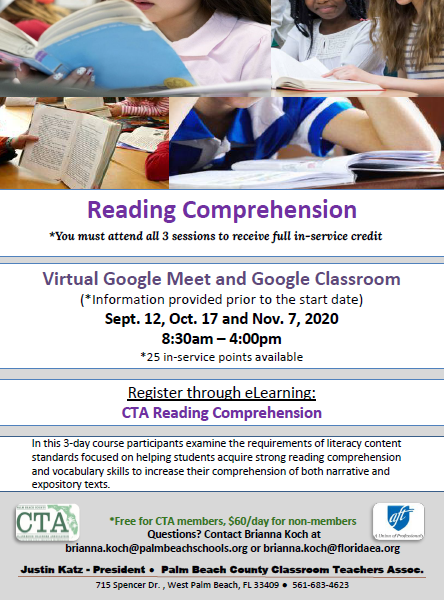 CTA PD – Fall 2020 – Reading Comprehension