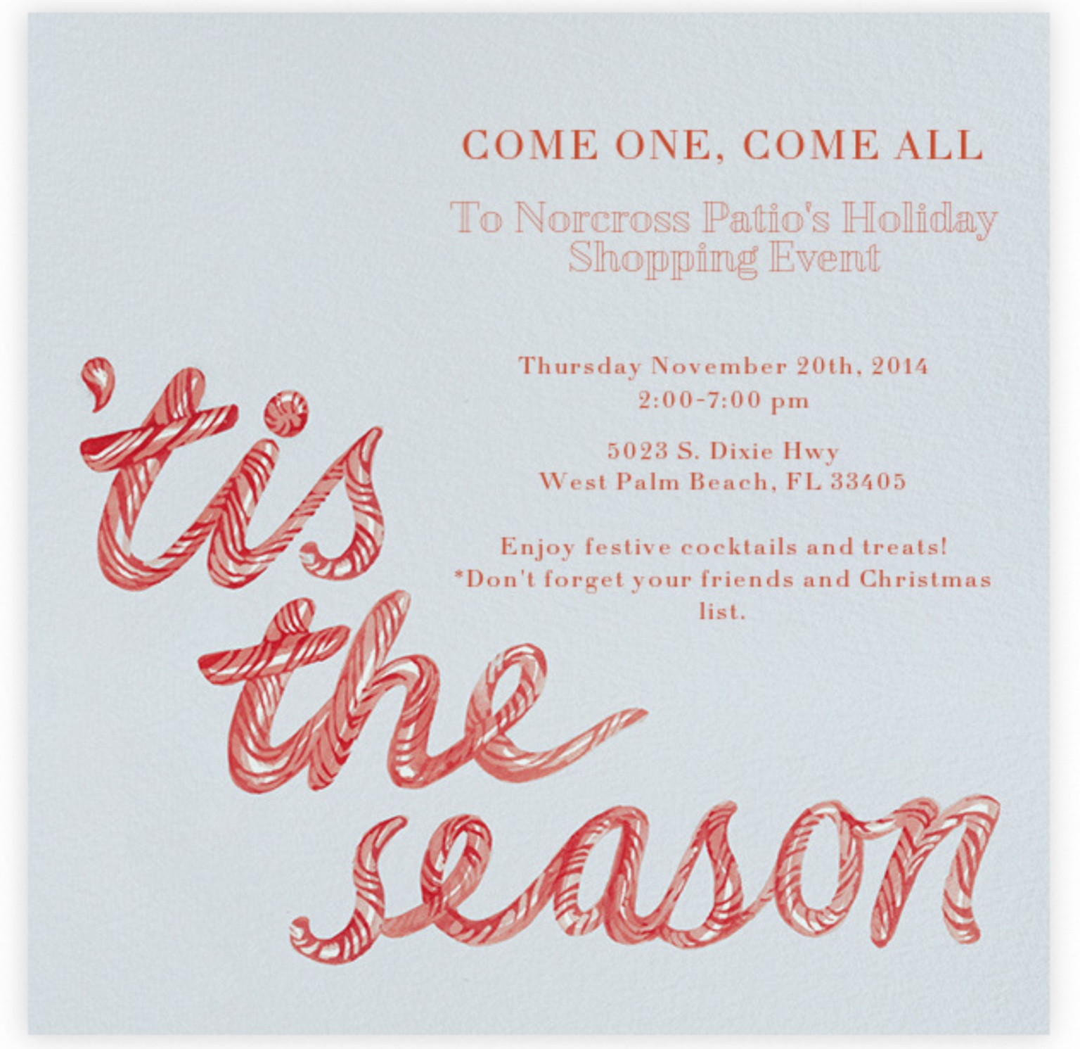 Norcross Patio Holiday Shopping Event Palm Beach Lately