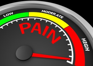 pain level conceptual meter indicate maximum