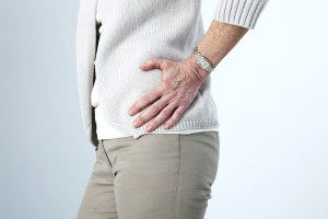 older person with hip pain