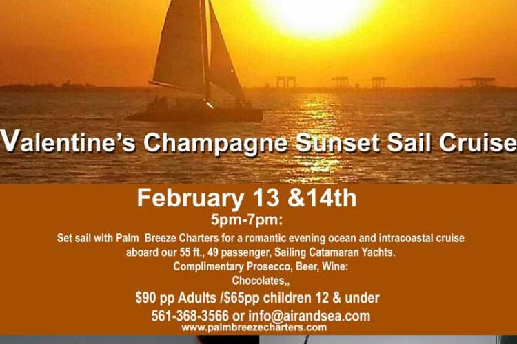 Sunset Champagne Sails