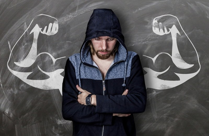 Man wearing a hood