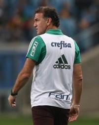 Cesar Greco/Ag Palmeiras/Divulgação _ Cuca viu um segundo tempo equilibrado entre Grêmio e Palmeiras, em Porto Alegre