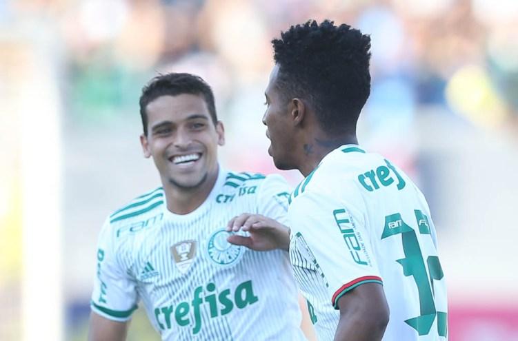 Cesar Greco/Ag.Palmeiras/Divulgação_Tchê Tchê abriu o placar do jogo logo aos dois minutos da etapa inicial