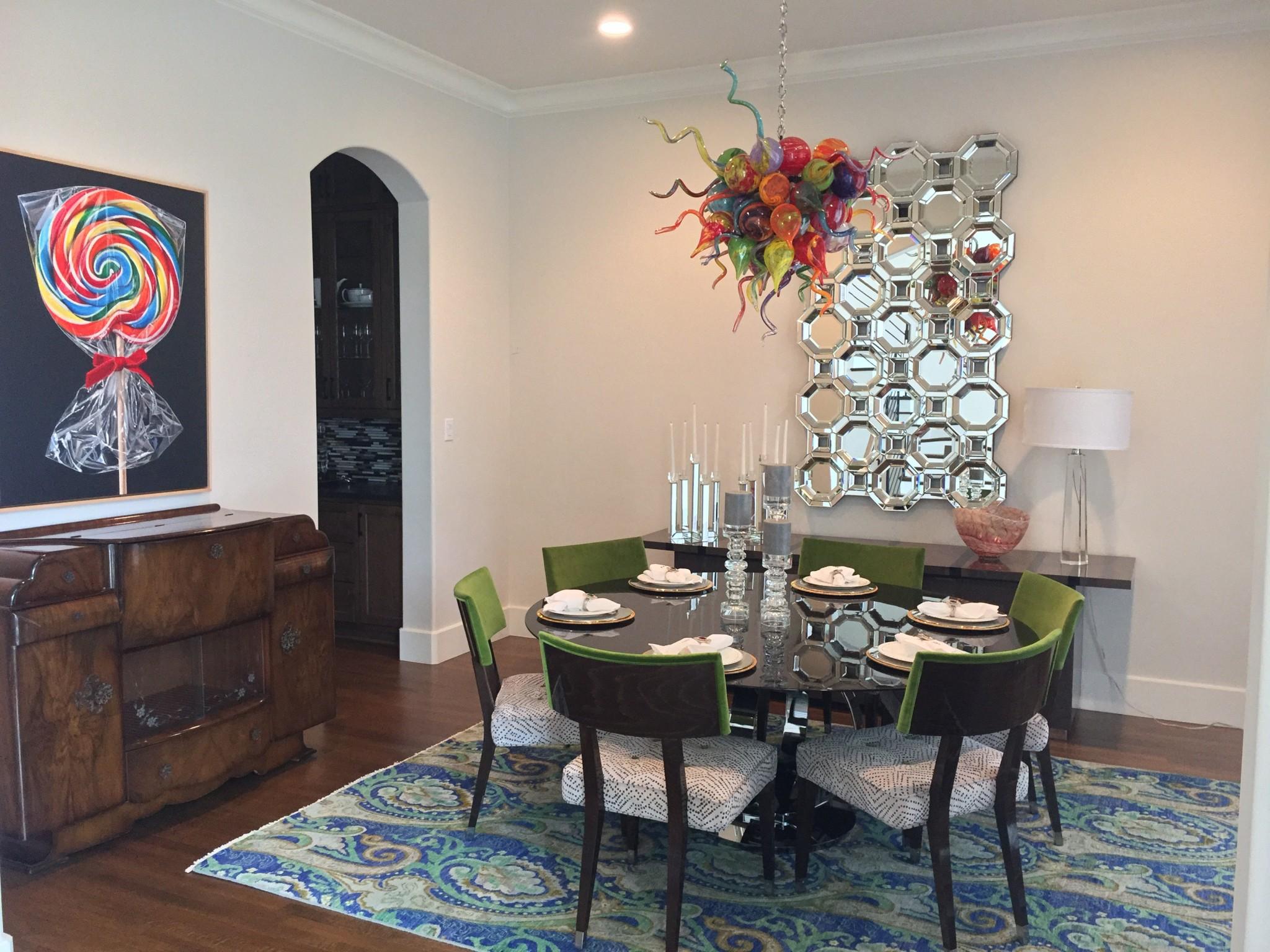 Dining Room  Palmer Davis Design LLC - Colorful modern dining room