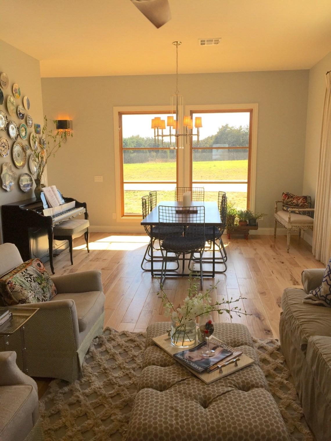 modern-entryway-to-dining-room - Palmer Davis Design, LLC