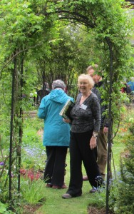 Elizabeth Dobbie shows round visitors at the weekend