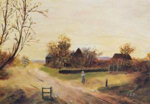 Hazelwood Farm by Florence Baker 1900 (c) Enfield Museum Service; Supplied by The Public Catalogue Foundation