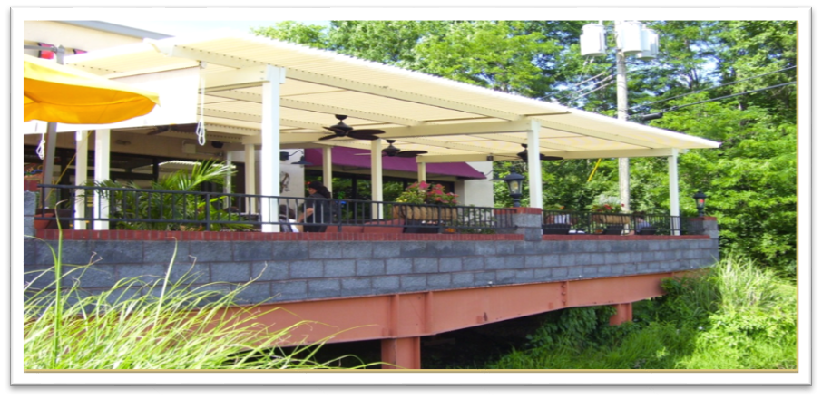 Your customers can sit comfortably outside under an American Louvered Roof Patio Cover. It can open partially to allow hot air to escape, but still shading the dining area completely.