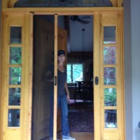 Clear View Retractable Screens are great for front entryways. They hide away when not in use; never blocking a beautiful front door.