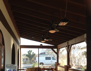 Warm Up Your Outdoor Eating Area For Guest With Solaira Quartz Heaters.