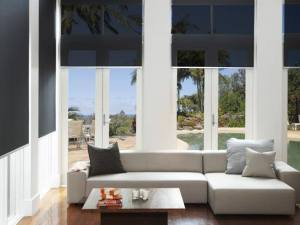 Home with interiors shades