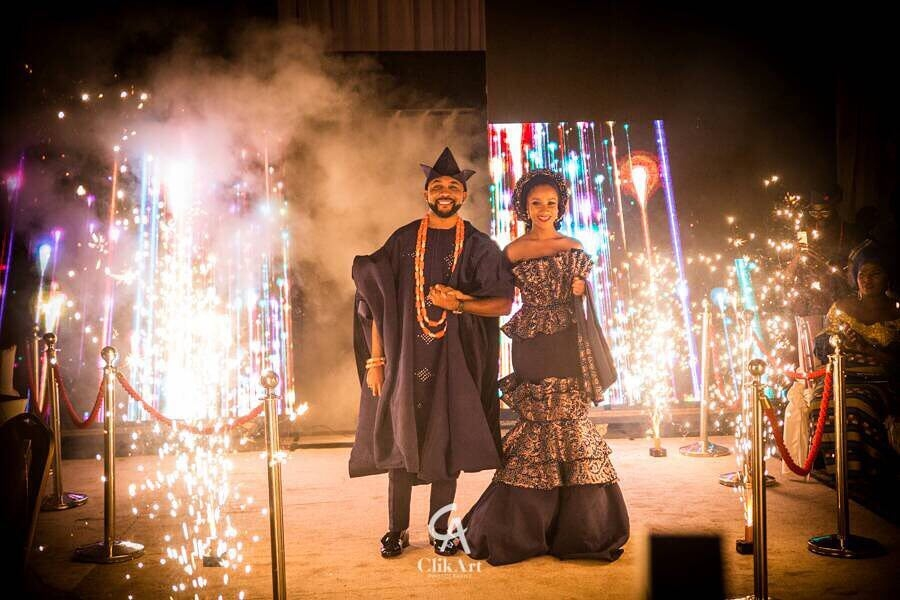 #BAAD2017! Banky W and Adesuwa Etomi Slay at their Traditional Wedding