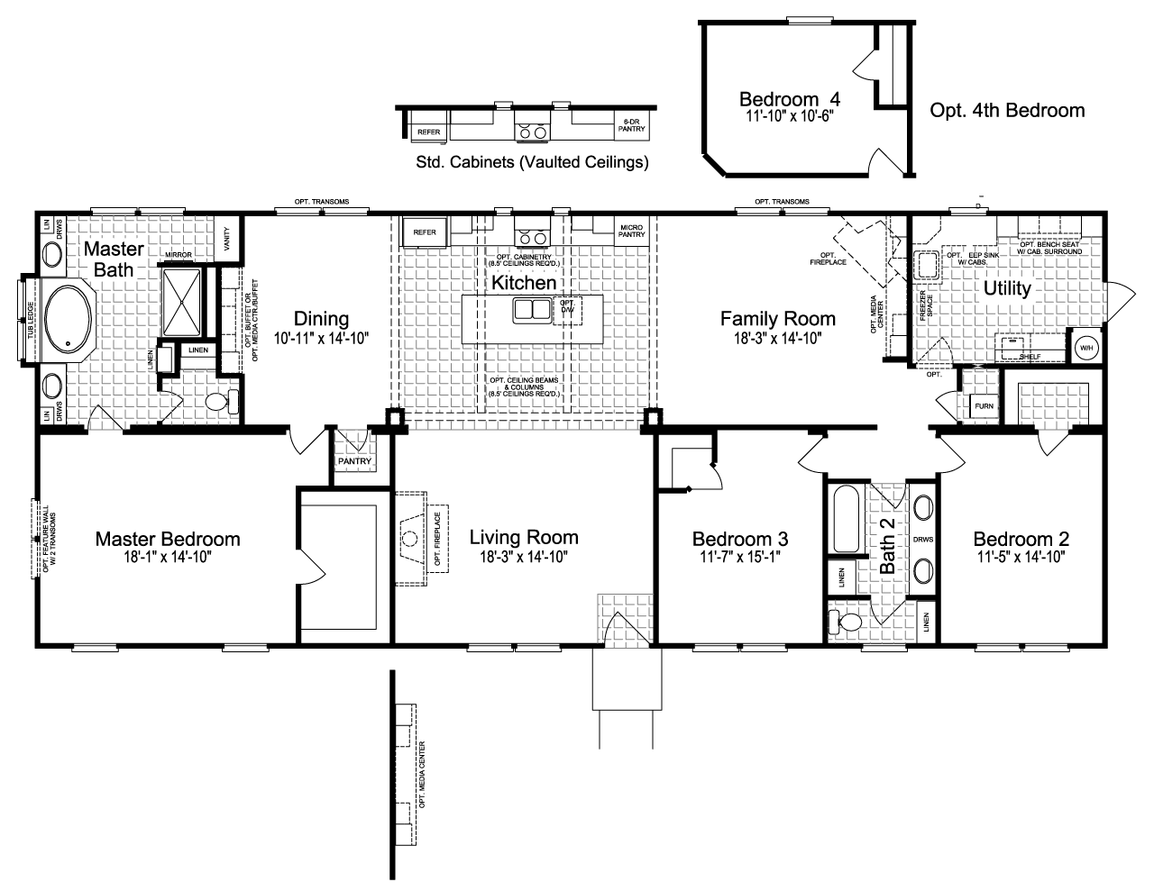 The Sonora Ii Ft B Manufactured Home Floor Plan Or