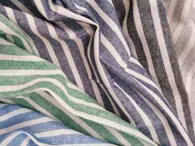 Ткань лен полоска двухцветная купить в Украине