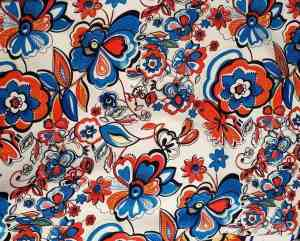 Ткань штапель цветы с узорами купить оптом и в розницу в Украине