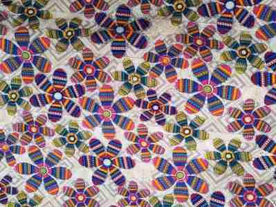 Ткань штапель цветы с люрексом купить оптоми в розницу недорого в Украине