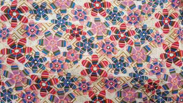 Ткань штапель цветы с металликом купить оптом и в розницу в Украине