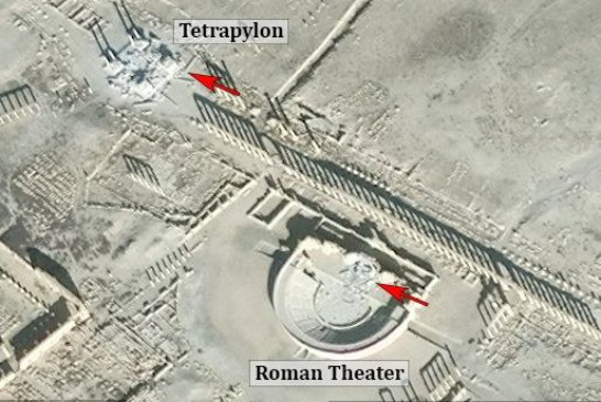 ISIS destroyed the Tetrapylon and part of the Roman Theater in Palmyra
