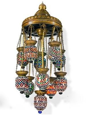 Turkish Mosaic Glass Chandelier