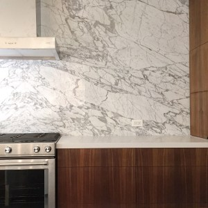 Bookmatched Granite in a modern Kitchen