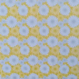 Baumwolle gelbe und graue Kreise