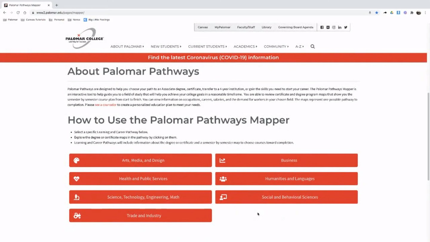 How to use the Palomar Pathways Mapper