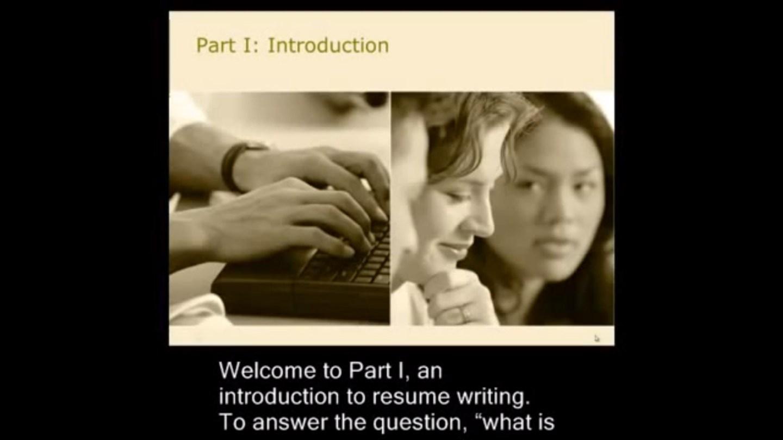 Resume Writing Part 1