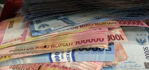 Image result for purse buldging with indonesian money