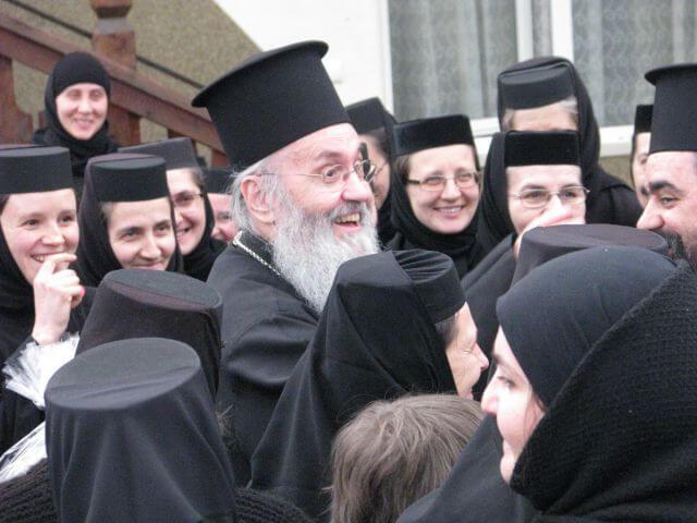 Hierotheos Vlachos la Manastirea Paltin