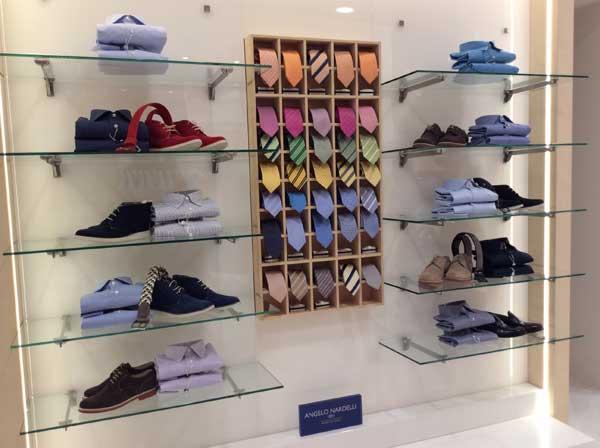 Un'immagine dello store Angelo Nardelli a Tirana