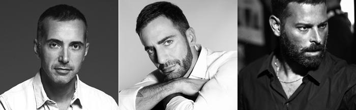 Andrea Incontri, Marc Jacobs e Fausto Puglisi