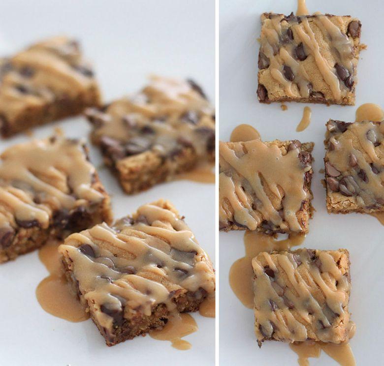brownie de manteiga de amendoim chocolate e aveia