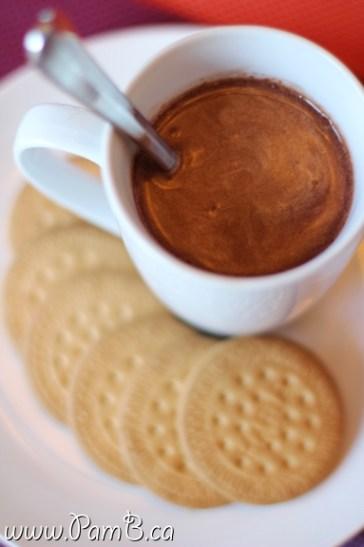 chocolate quente com nutela