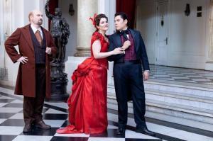 Soprano Pamela Flores, Tenor Andrés Veramendi y Baritono Omar Carrión. Violetta, Alfredo y Germont. La Traviata de G.Verdi Teatro Municipal de Santiago