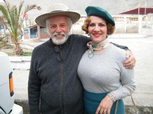 Pamela Flores y Alejandro Jodorowsky, Tocopilla, Chile.