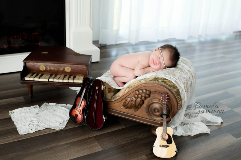 Newborn Musician Photo Portsmouth Ohio