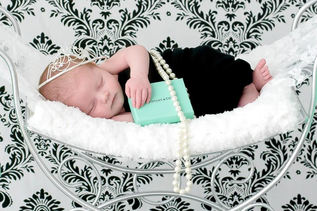 Breakfast At Tiffany's Newborn Session
