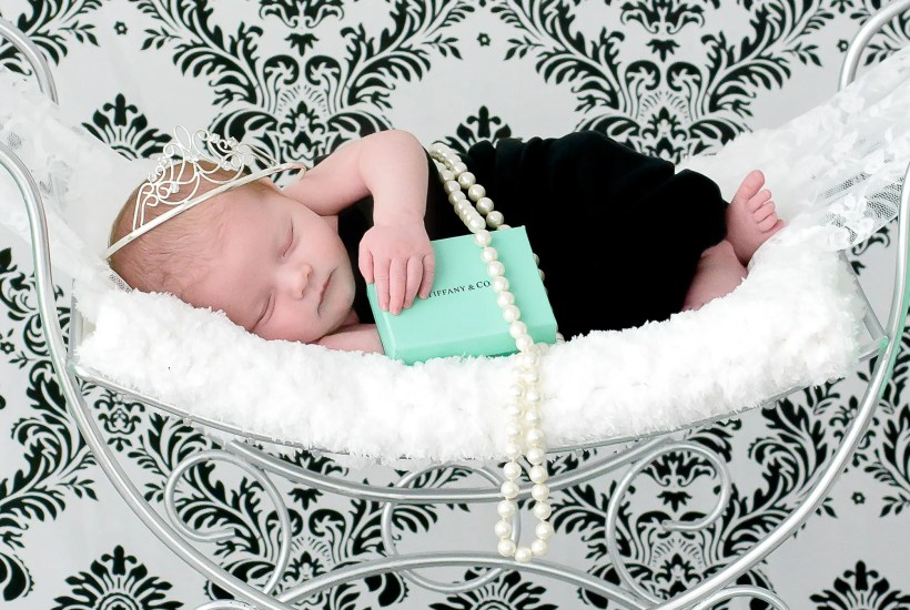 Breakfast At Tiffany's Newborn Session
