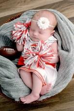 Ohio Newborn Cheerleading Photography