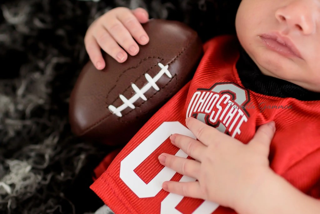 Portsmouth OH Newborn Football Photography