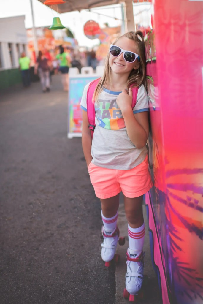 Retro Child Photography Session Skates