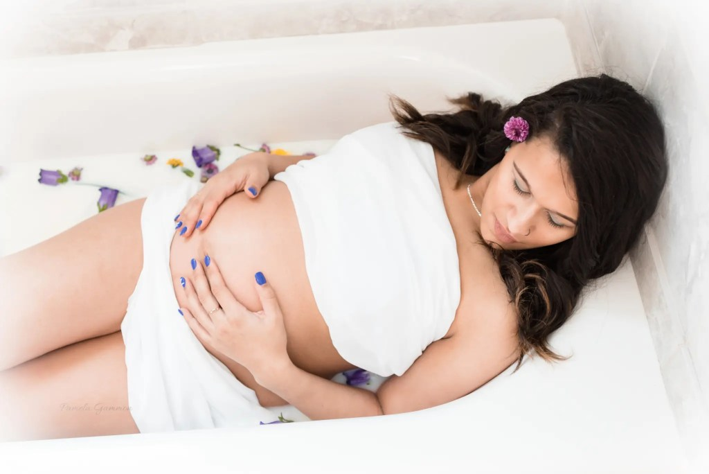 Milk Bath Maternity Session Ohio